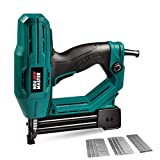 Electric Brad Nailer, NEU MASTER NTC0040 Electric Nail Gun/Staple Gun for Upholstery, Carpentry and Woodworking Projects, 1/4'' Narrow Crown Staples 200pcs and Nails 800pcs Included*