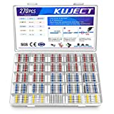 Kuject 270PCS Solder Seal Wire Connectors, Self-Solder Heat Shrink Butt Connector Waterproof Insulated Electrical Butt Splice Wire Terminals for Marine Automotive Aircraft Boat Truck Stereo Wire Joint*