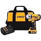 DEWALT 20V Max XR Impact Wrench Kit, Brushless, High Torque, Detent Pin Anvil, 1/2-Inch, Cordless (DCF899M1)*