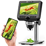 LCD Digital Microscope, YINAMA 4.3 Inch 1080P 2 Megapixels 1000X Magnification Zoom Wireless USB StereoMicroscope Camera, Compatible with iPhone Android, iPad MAC Windows with 32GB TF Card