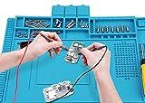 Voniry Soldering Mat 500℃ Heat Resistant Non-Slip and Non-toxic Odorless silicone repair mat for soldering electronics assembly or electronics and circuit board repair*