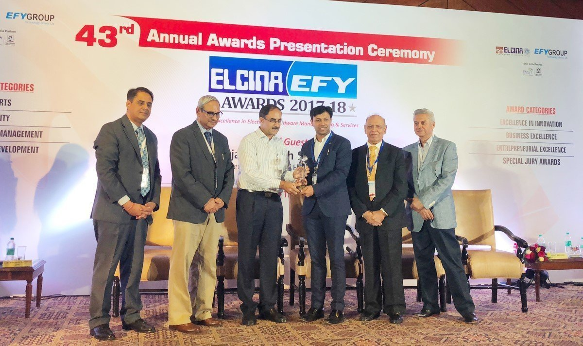 Mr. Varun Manwani - Director, Sahasra Group won Award for Entrepreneurial Excellence in ELCINA - EFY Awards 2018 1